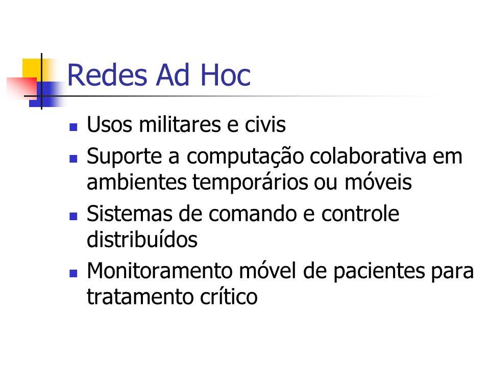 Redes Ad Hoc Usos militares e civis