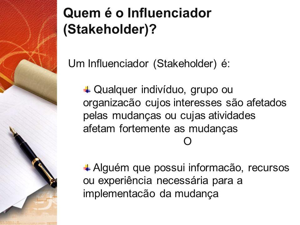 Quem é o Influenciador (Stakeholder)
