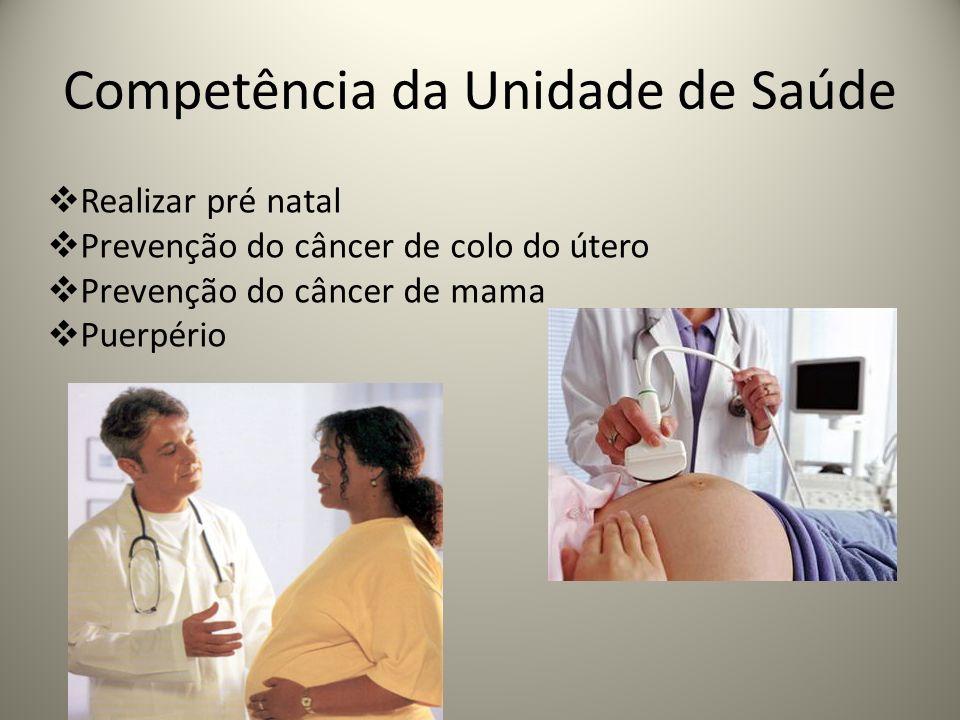 Competência da Unidade de Saúde