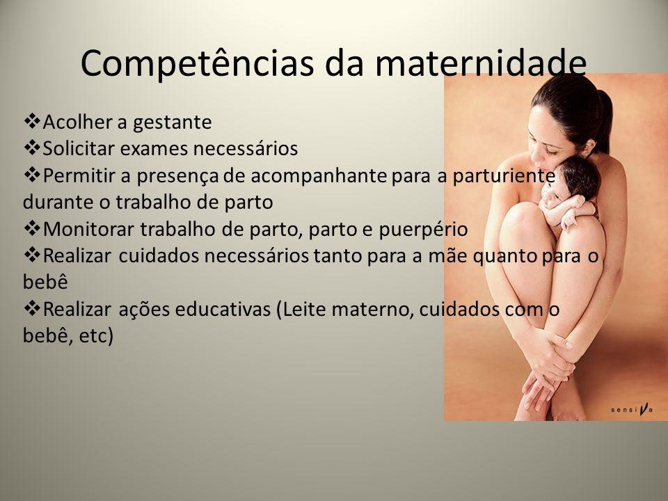 Competências da maternidade