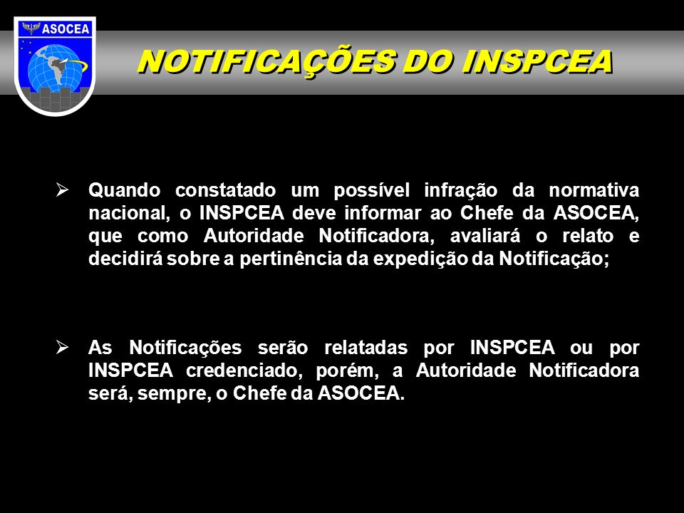 NOTIFICAÇÕES DO INSPCEA