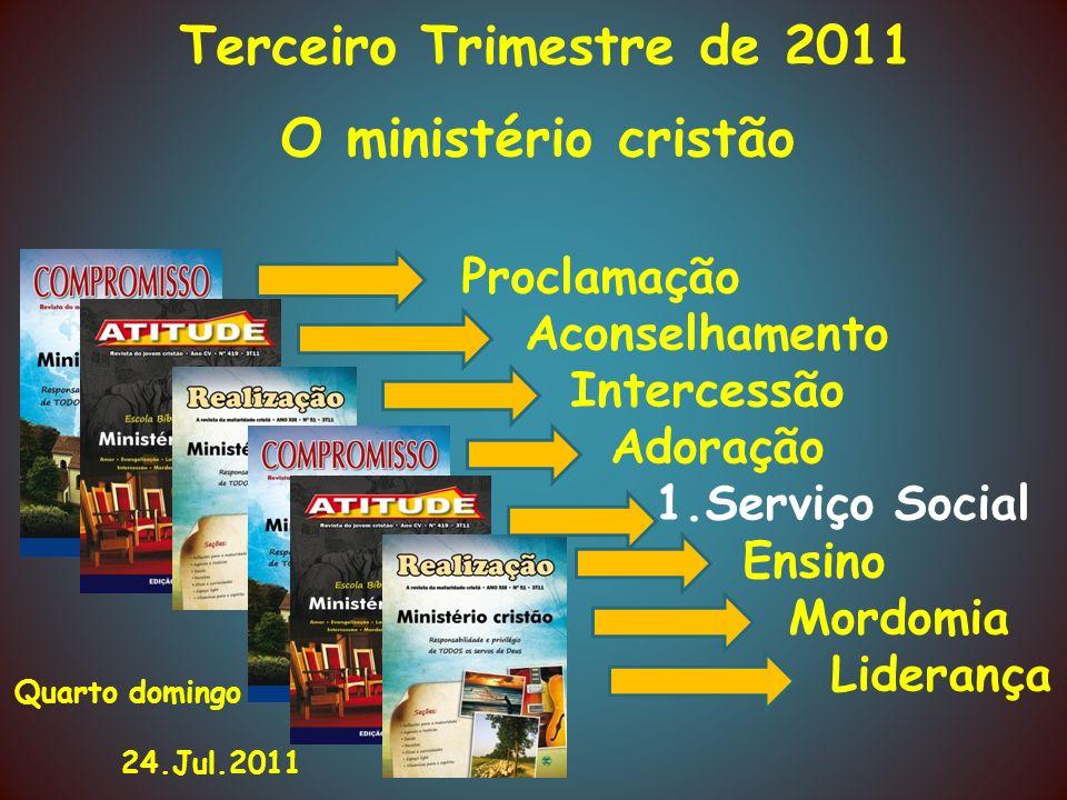 O ministério cristão Proclamação Aconselhamento Intercessão Adoração