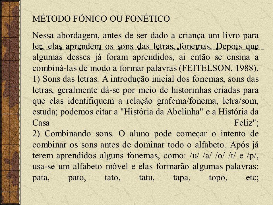 MÉTODO FÔNICO OU FONÉTICO