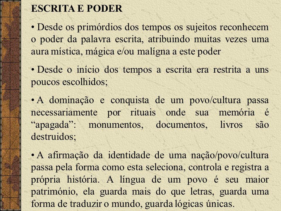 ESCRITA E PODER