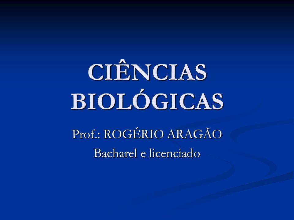 Prof.: ROGÉRIO ARAGÃO Bacharel e licenciado