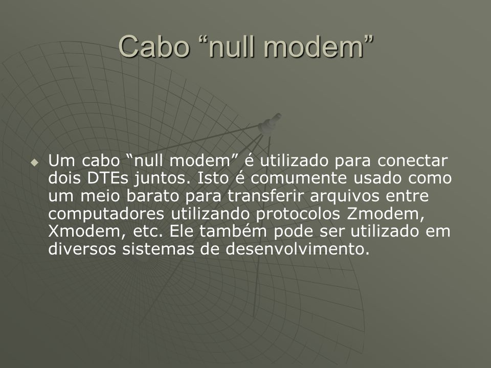 Cabo null modem