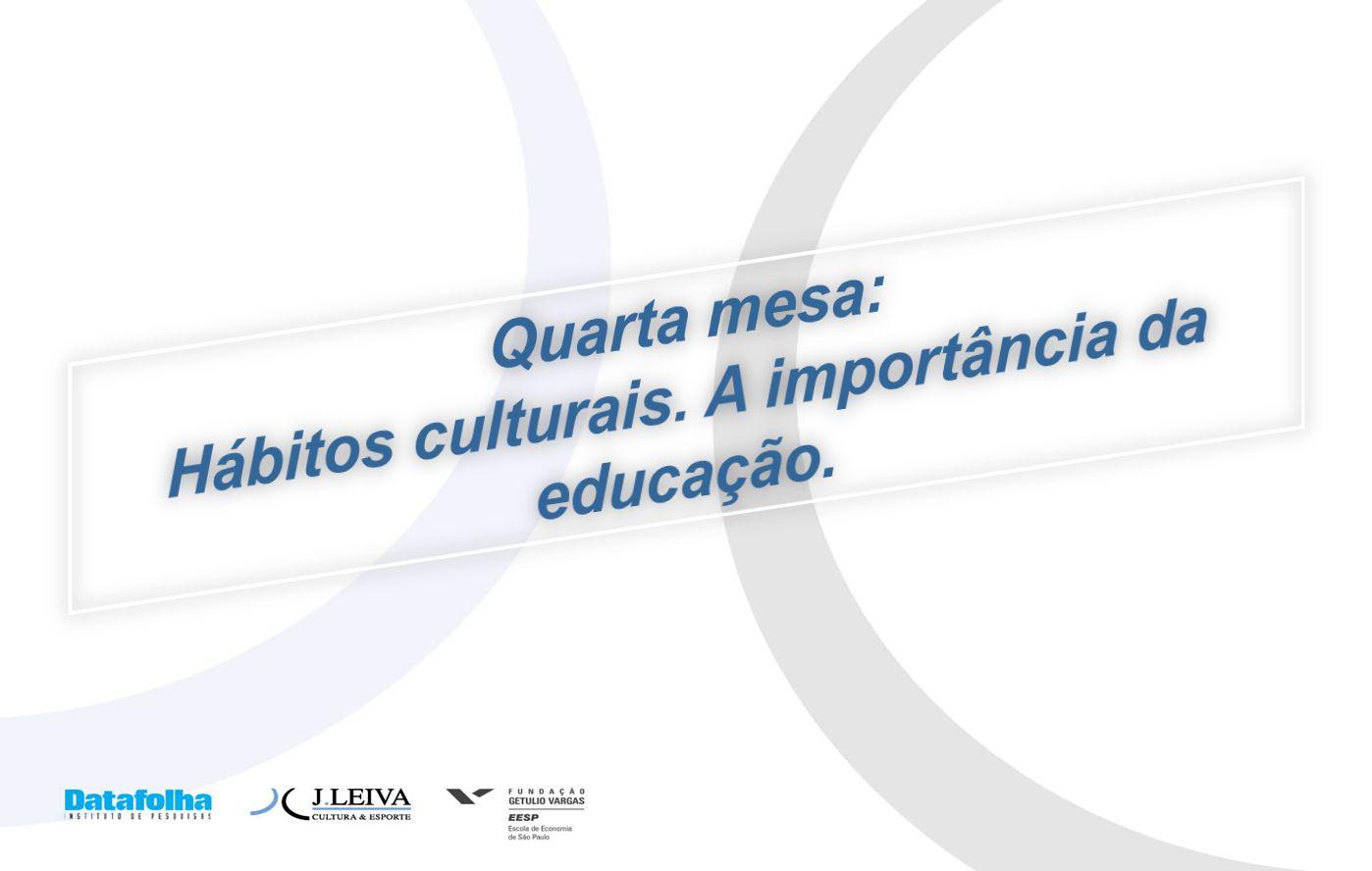 Hábitos culturais. A importância da educação.
