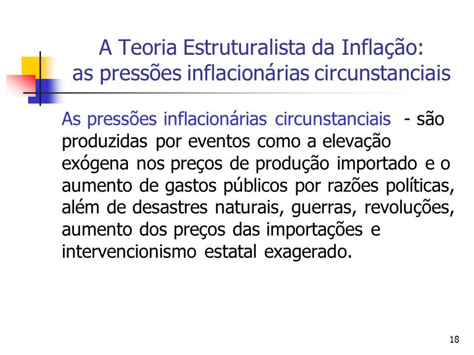 A Teoria Estruturalista da Inflação: as pressões inflacionárias circunstanciais