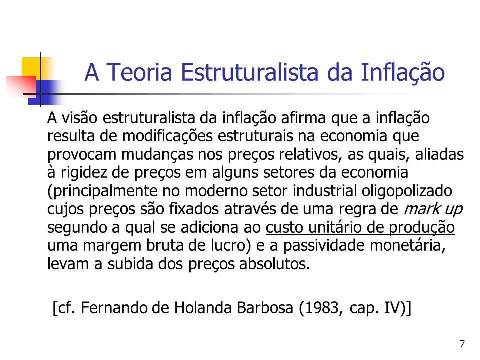A Teoria Estruturalista da Inflação