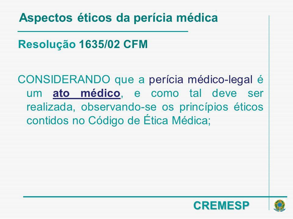 Aspectos éticos da perícia médica