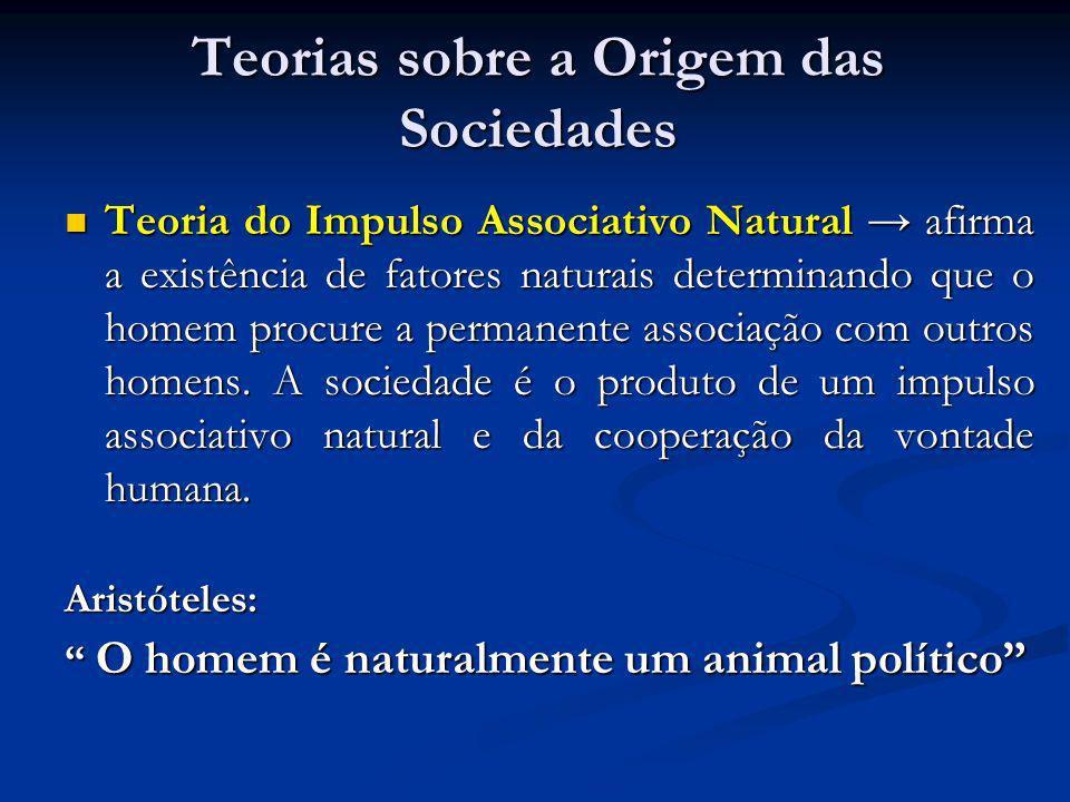 Teorias sobre a Origem das Sociedades