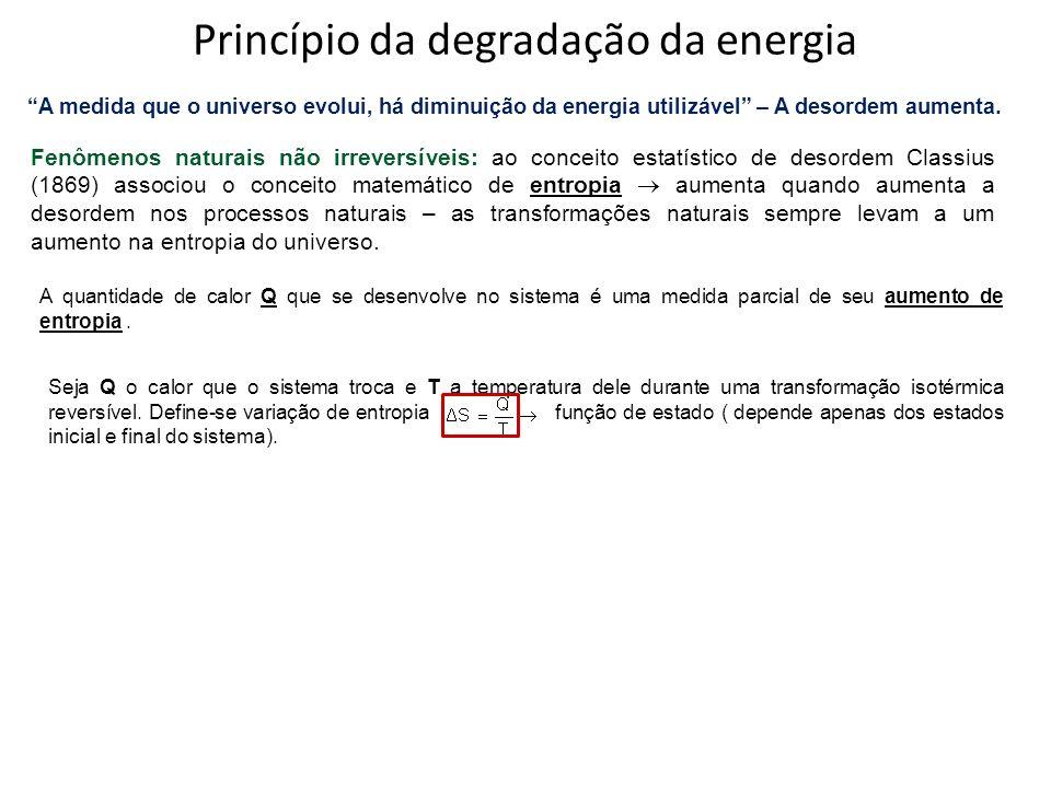 Princípio da degradação da energia