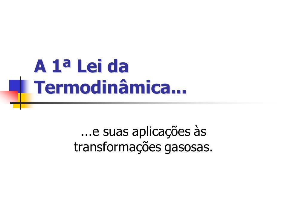 A 1ª Lei da Termodinâmica...