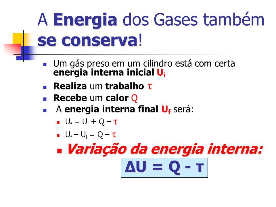 A Energia dos Gases também se conserva!