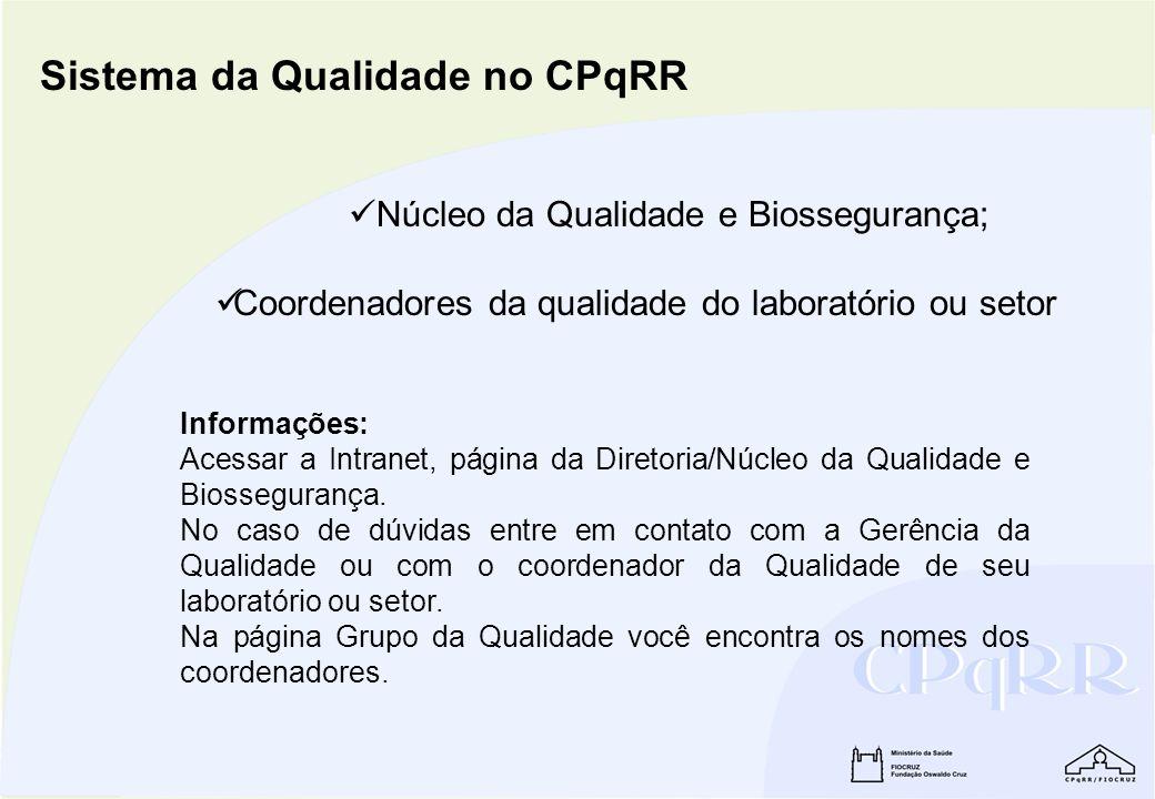 Sistema da Qualidade no CPqRR
