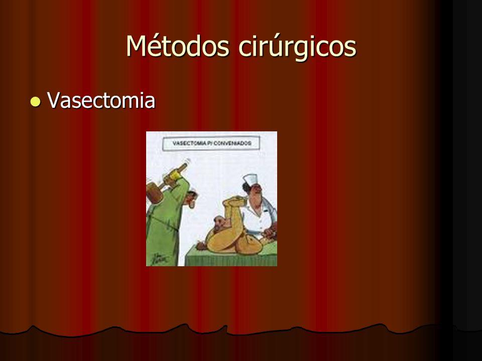 Métodos cirúrgicos Vasectomia