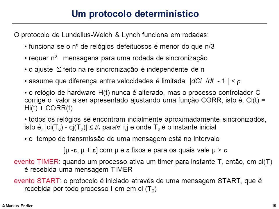 Um protocolo determinístico