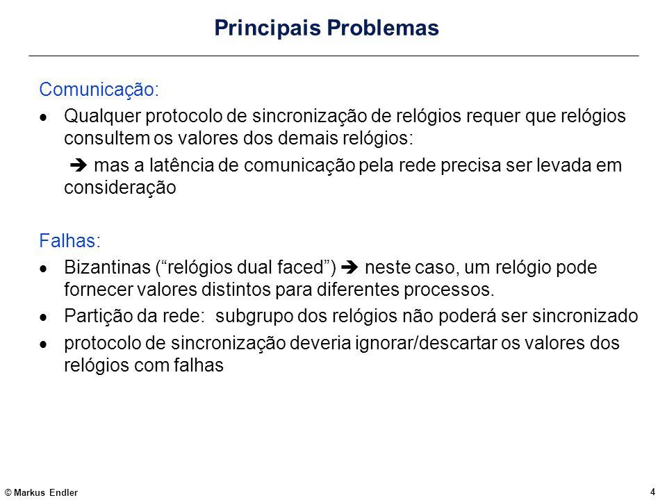 Principais Problemas Comunicação: