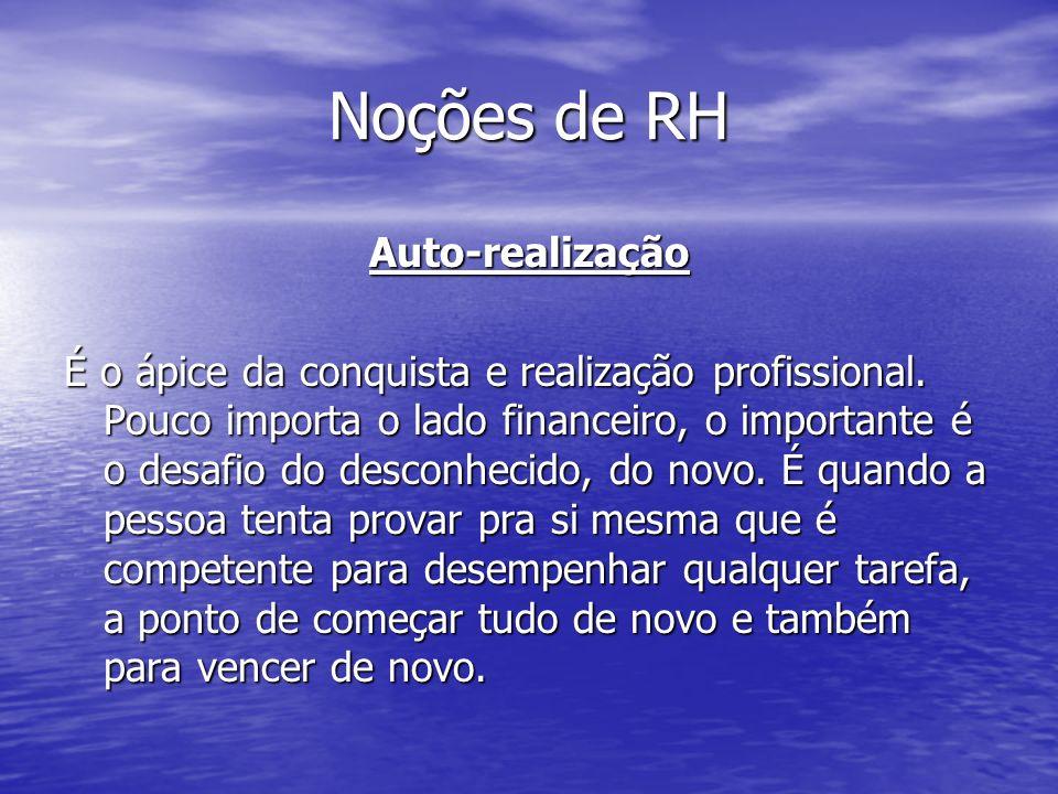 Noções de RH Auto-realização