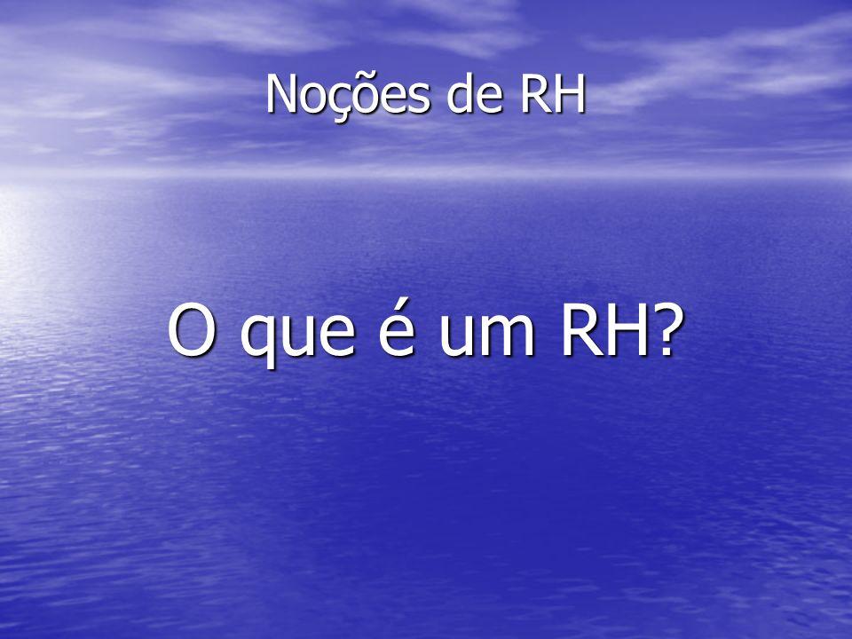 Noções de RH O que é um RH