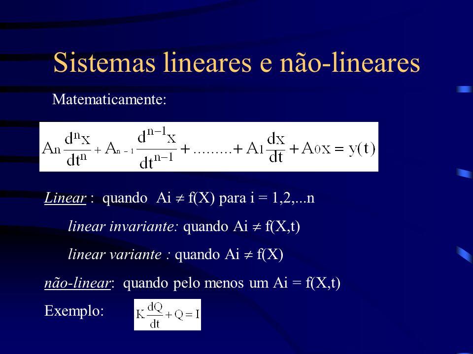 Sistemas lineares e não-lineares