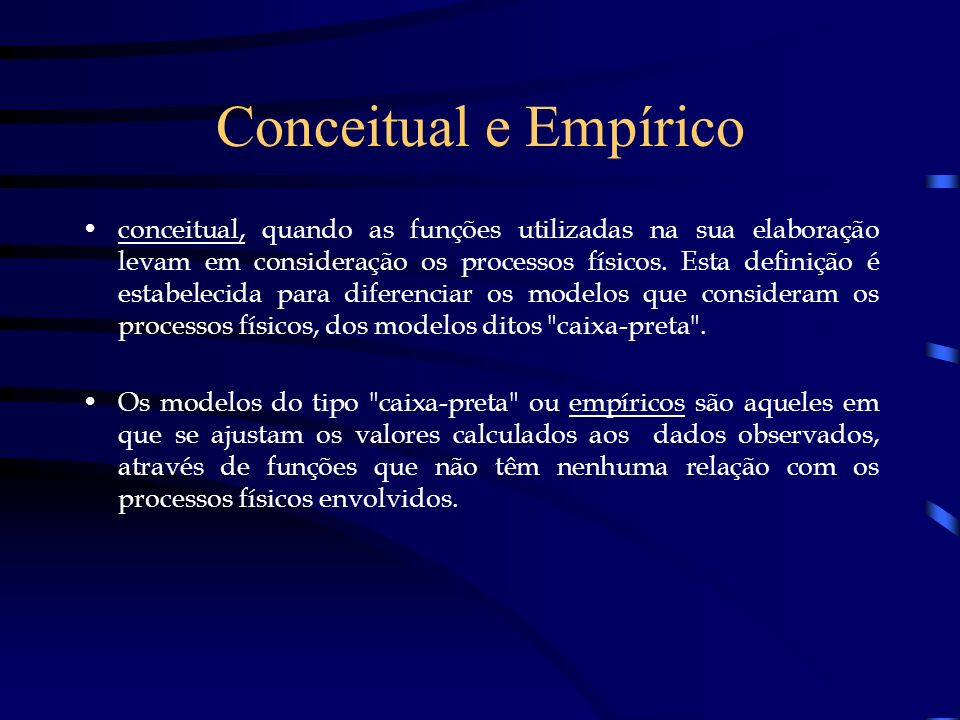 Conceitual e Empírico