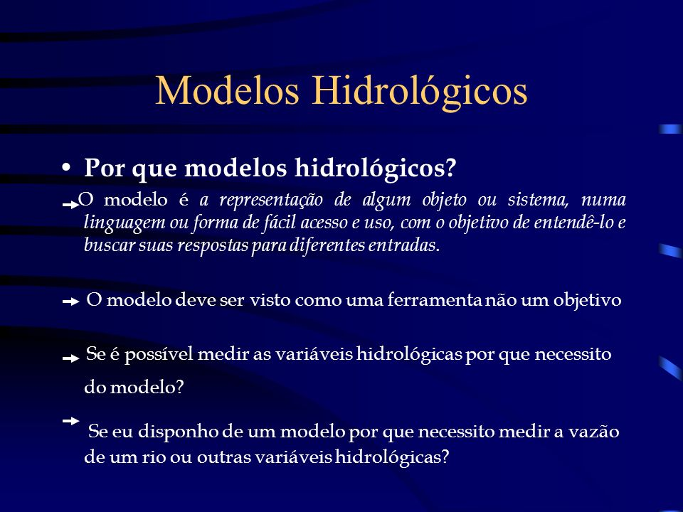 Modelos Hidrológicos Por que modelos hidrológicos