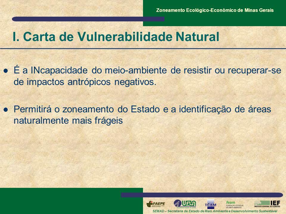 I. Carta de Vulnerabilidade Natural
