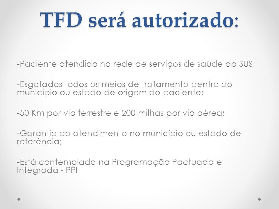 TFD será autorizado: