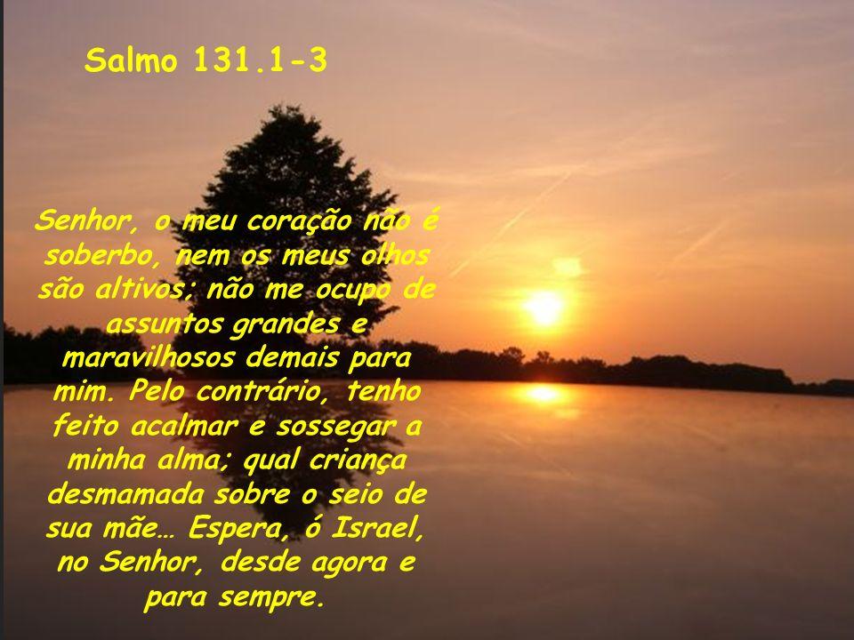 Comentários ao Salmo 81 Salmo 131.1-3