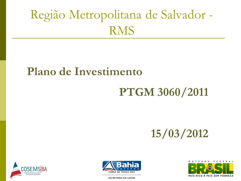 Região Metropolitana de Salvador - RMS