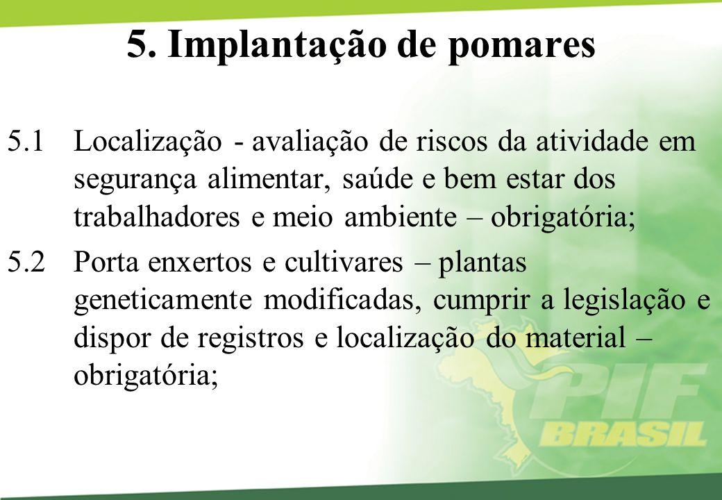 5. Implantação de pomares