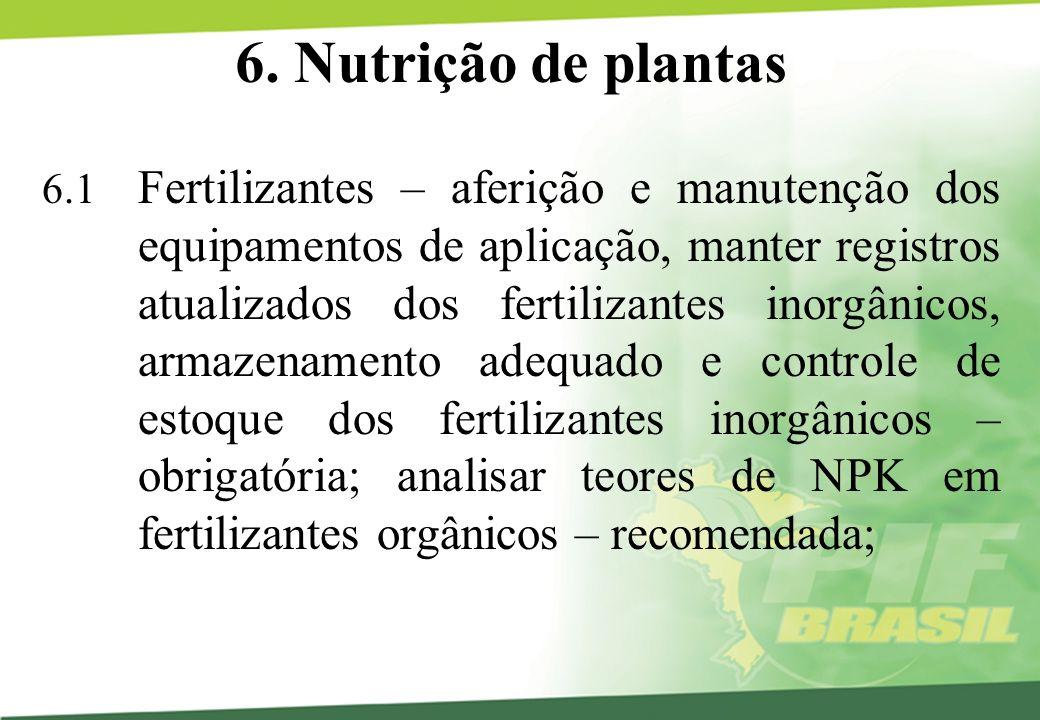 6. Nutrição de plantas