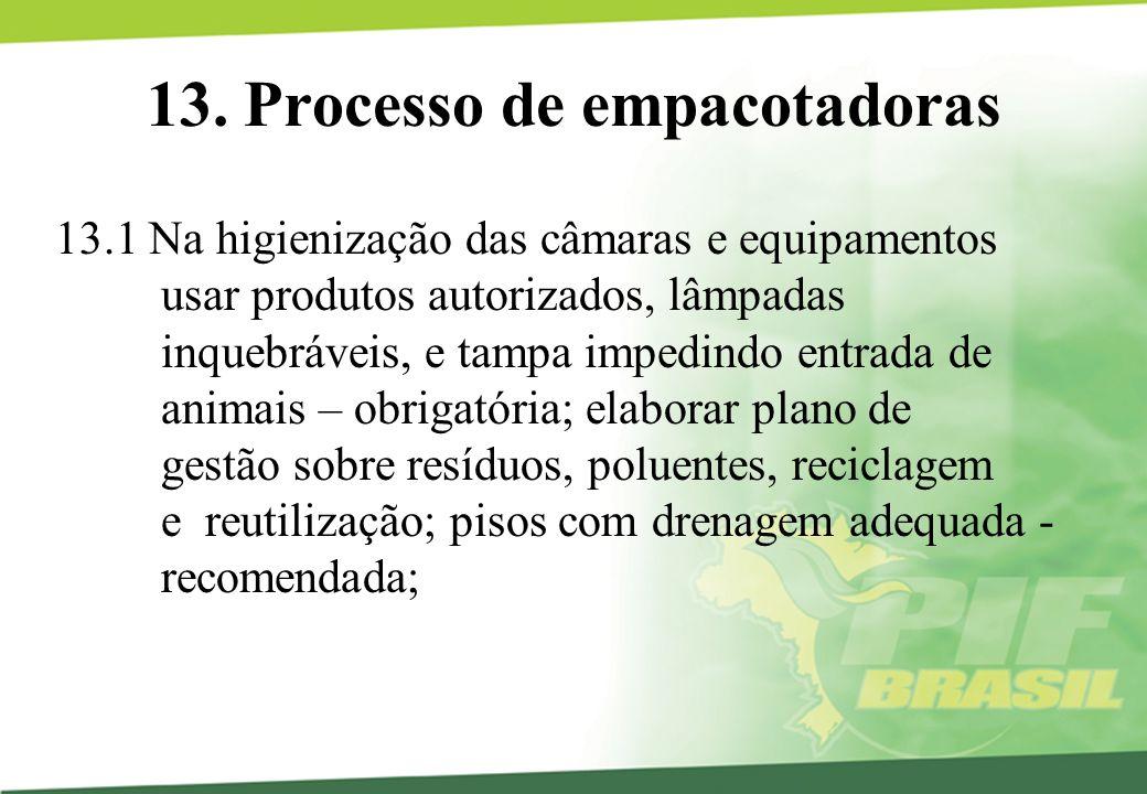 13. Processo de empacotadoras