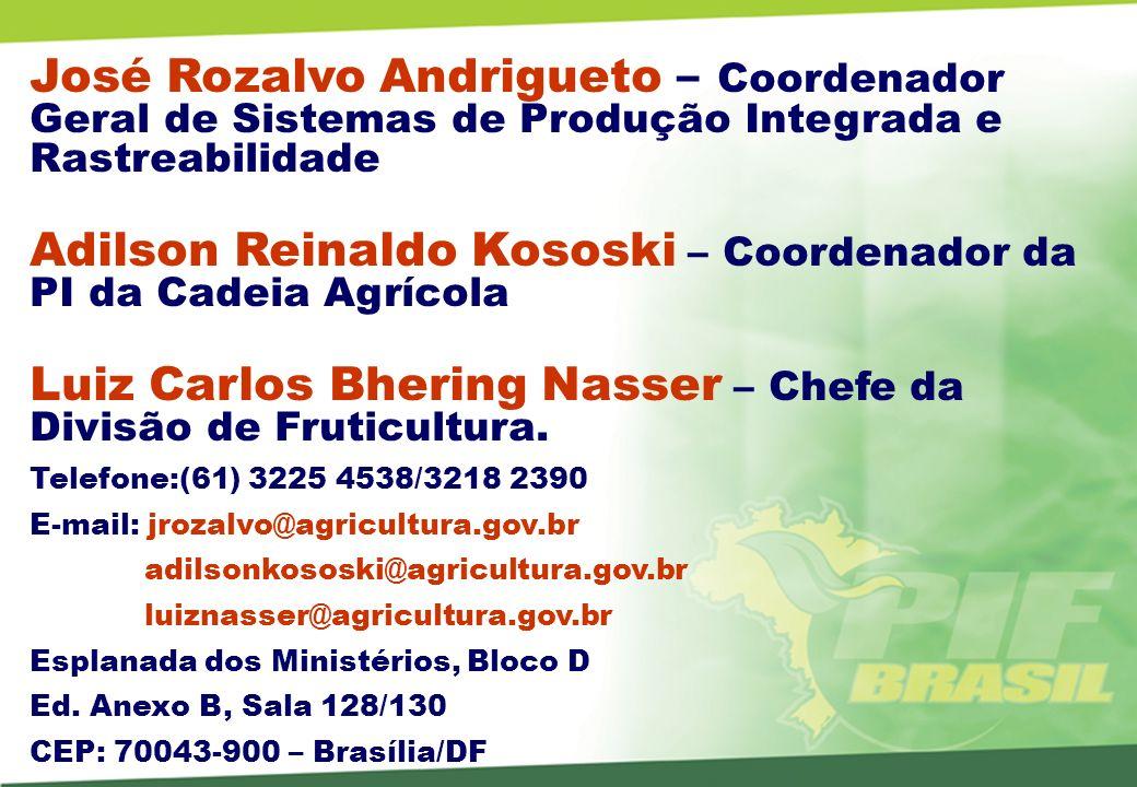 Adilson Reinaldo Kososki – Coordenador da PI da Cadeia Agrícola