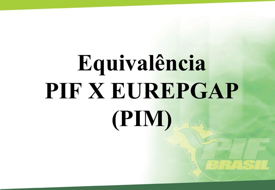 Equivalência PIF X EUREPGAP (PIM)
