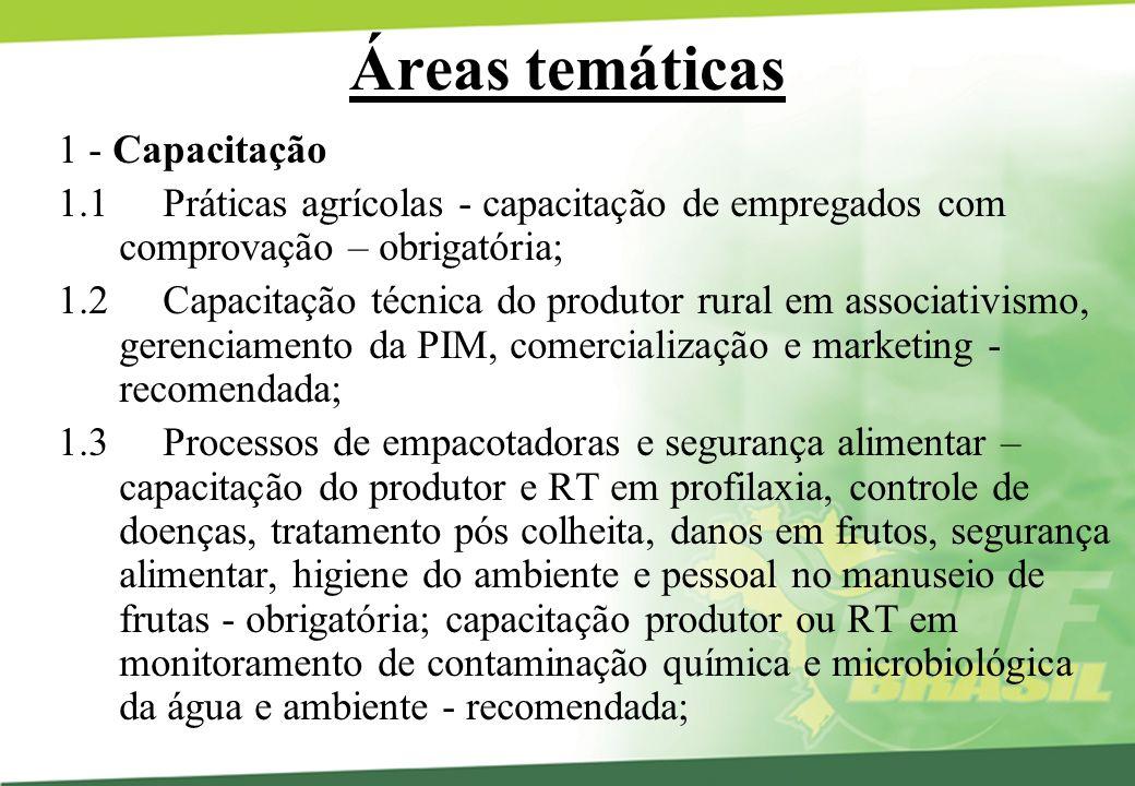Áreas temáticas 1 - Capacitação