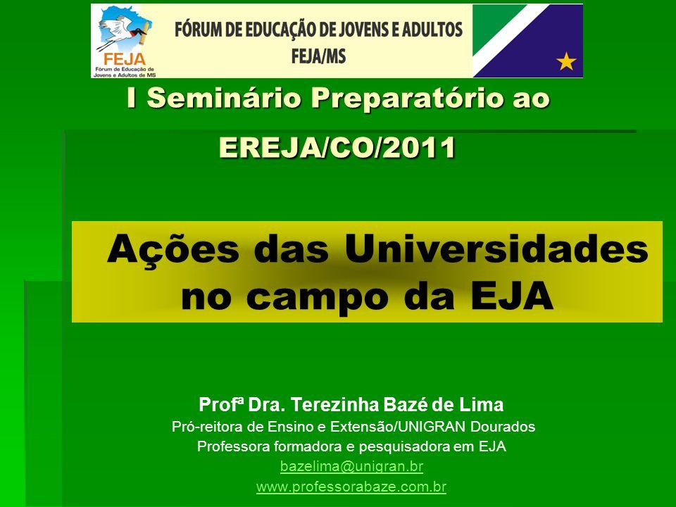I Seminário Preparatório ao EREJA/CO/2011