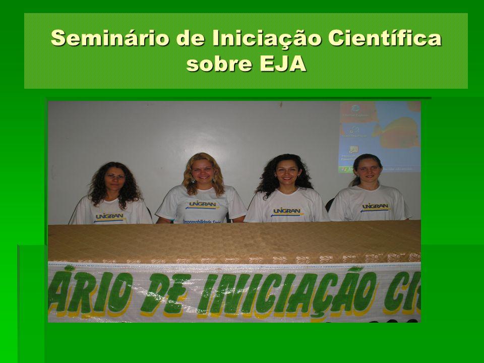 Seminário de Iniciação Científica sobre EJA