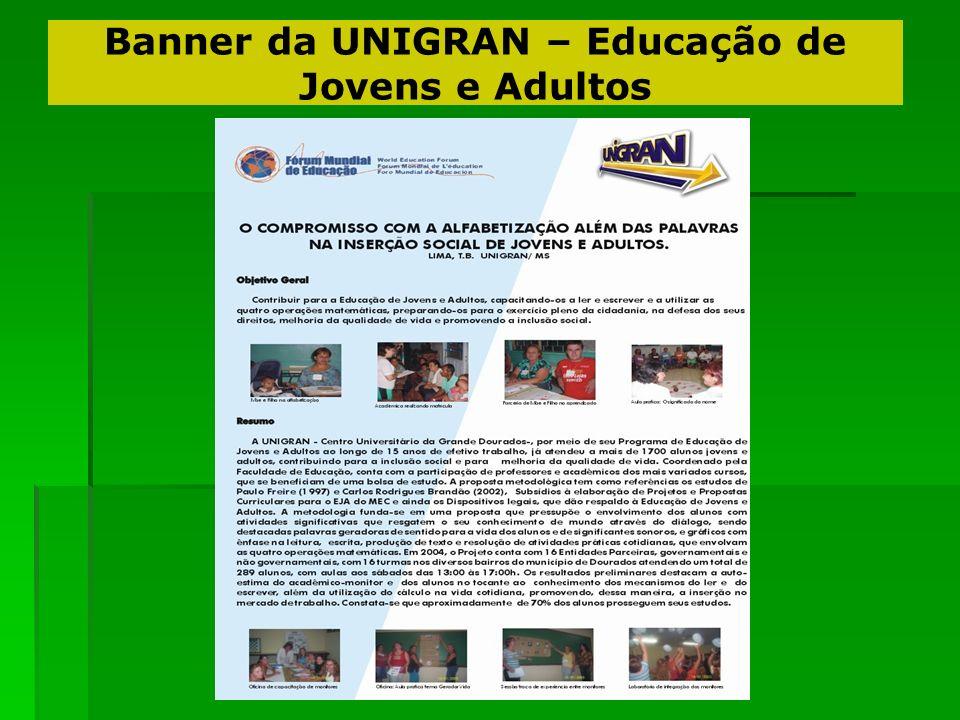 Banner da UNIGRAN – Educação de Jovens e Adultos