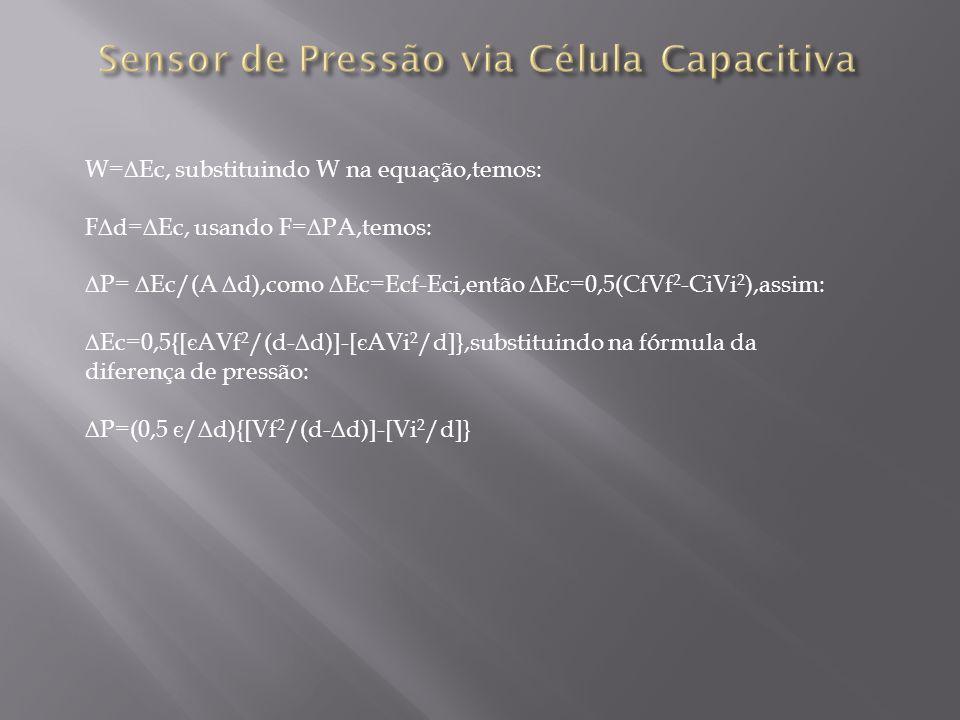 Sensor de Pressão via Célula Capacitiva