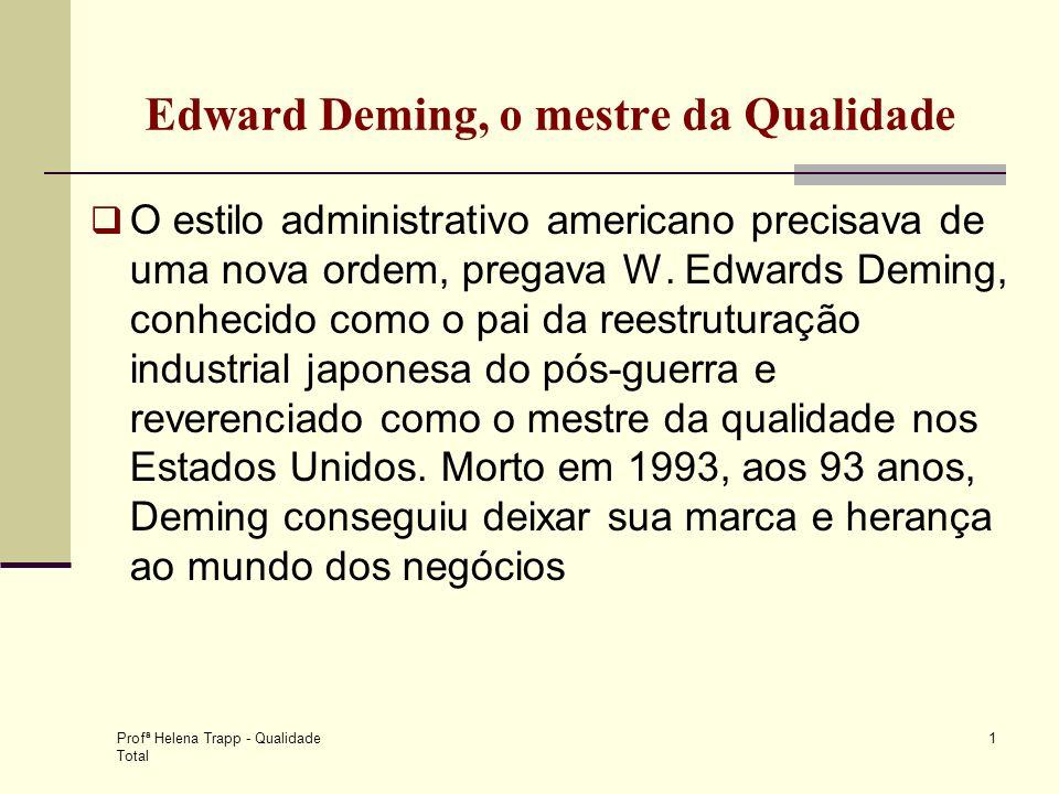 Edward Deming, o mestre da Qualidade