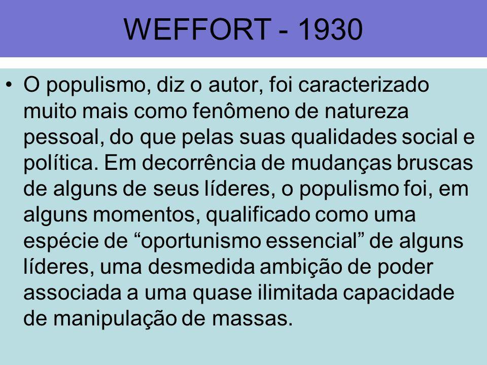 WEFFORT - 1930