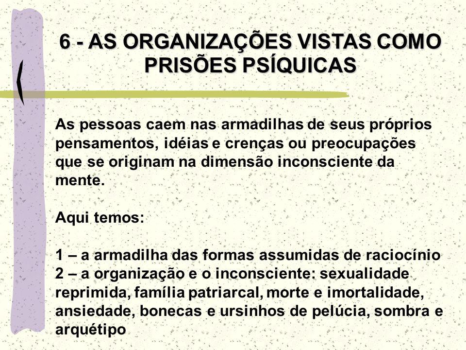 6 - AS ORGANIZAÇÕES VISTAS COMO PRISÕES PSÍQUICAS