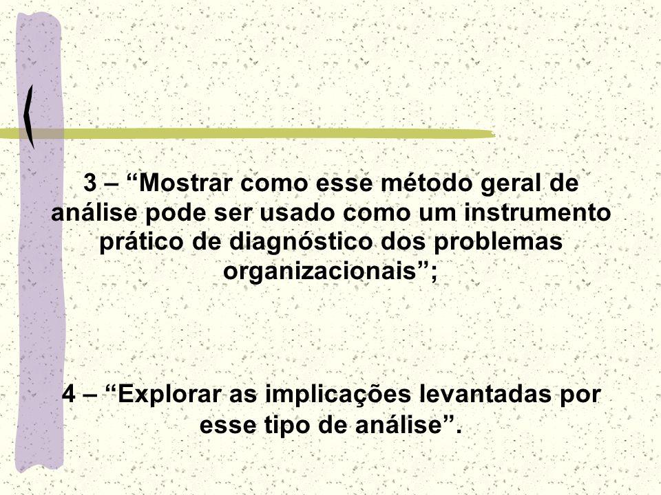 4 – Explorar as implicações levantadas por esse tipo de análise .