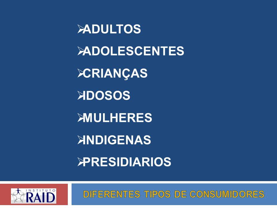 DIFERENTES TIPOS DE CONSUMIDORES