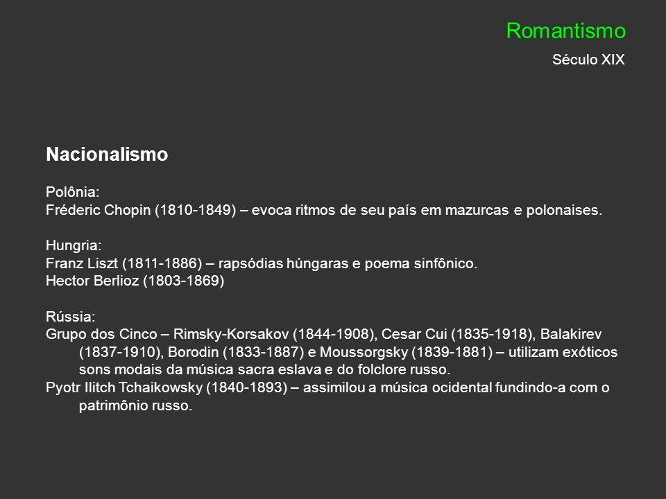 Romantismo Século XIX Nacionalismo Polônia: