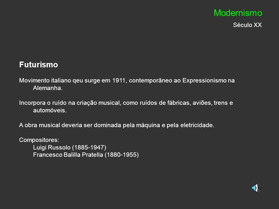 Modernismo Século XX Futurismo