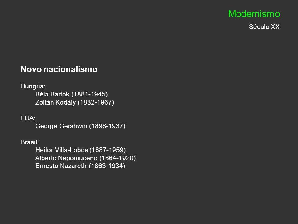 Modernismo Século XX Novo nacionalismo Hungria: