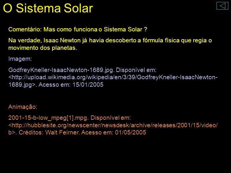 O Sistema Solar Comentário: Mas como funciona o Sistema Solar